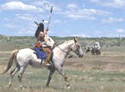 IndianWarrior andwagon Train
